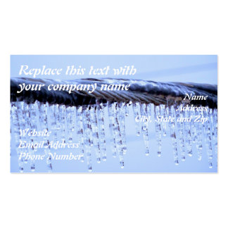 Ice Covered Wire Business Card