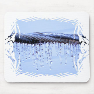 Ice Covered Wire Mouse Pad