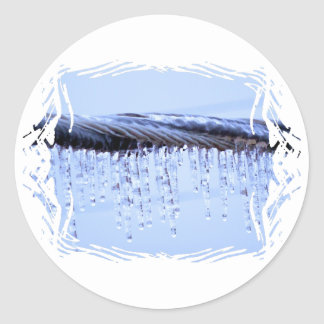 Ice Covered Wire Round Stickers