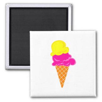 Ice Cream 2 Inch Square Magnet