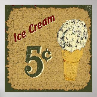 Ice Cream 5 cents Poster