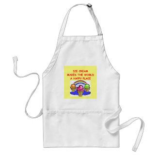 ice cream adult apron