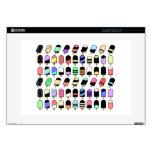 """Ice Cream All Over – Colorful Repeating Pattern Decal For 15"""" Laptop"""