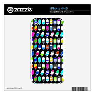 Ice Cream All Over – Colorful Repeating Pattern Decals For The iPhone 4