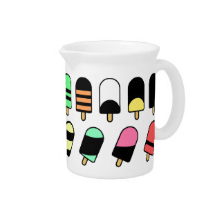 Ice Cream All Over – Colorful Repeating Pattern Drink Pitcher