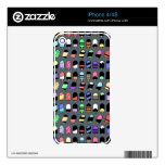 Ice Cream All Over – Colorful Repeating Pattern iPhone 4 Skins