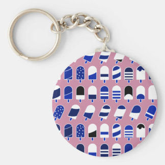 Ice Cream All Over – Colorful Repeating Pattern Keychain