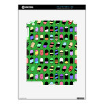 Ice Cream All Over – Colorful Repeating Pattern Skins For The iPad 2