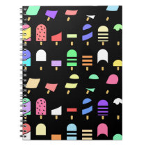 Ice Cream All Over – Colorful Repeating Pattern Spiral Notebook