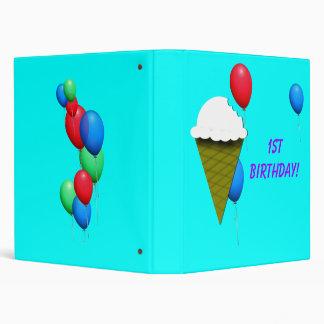 Ice cream and Balloons Birthday Binder