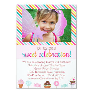 Candy birthday invitations zazzle ice cream and candy party invitation filmwisefo