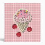 Ice Cream and Cherries Binders
