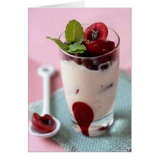 Ice Cream and Cherries Card