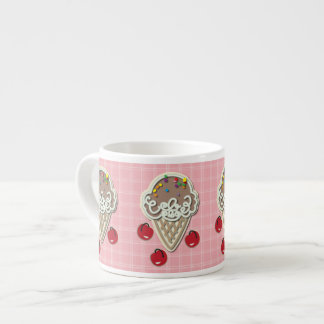 Ice Cream and Cherries 6 Oz Ceramic Espresso Cup