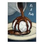 Ice Cream and Chocolate: Party Invitation: Art