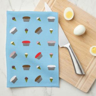 Ice Cream and Cupcakes Hand Towel