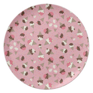 Ice Cream and Sprinkles Melamine Plate