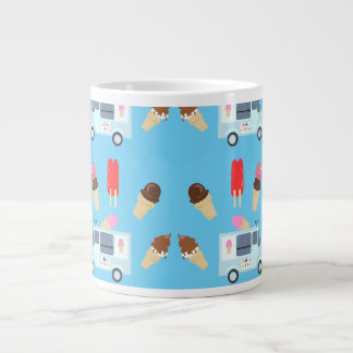 Ice Cream and Truck Pattern Giant Coffee Mug