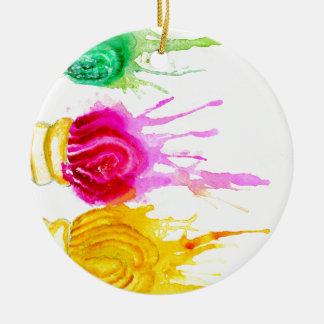 Ice Cream Art Ceramic Ornament