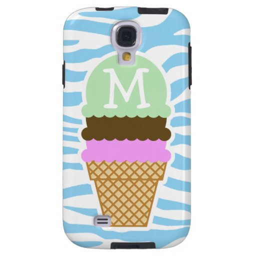 Ice Cream Baby Blue Zebra Animal Print Galaxy S4 Case