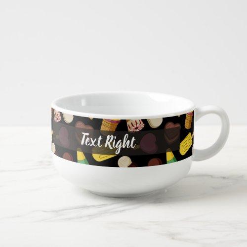 Ice Cream Background Soup Mug