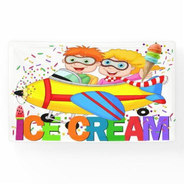 Professional Business ICE Cream Banner (Airplane Series)