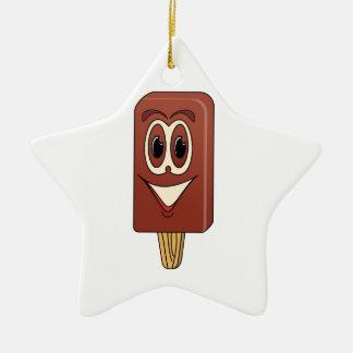 Ice Cream Bar Cartoon Ceramic Ornament