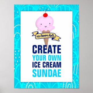 Ice Cream Bar, Create Your Own Sundae, Sign