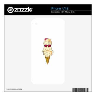 Ice Cream Beard iPhone 4S Skin