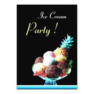 ICE CREAM BIRTHDAY PARTY 2 5X7 PAPER INVITATION CARD