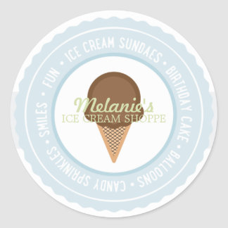 Ice Cream BIRTHDAY PARTY Favor Sticker 2