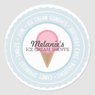 Ice Cream BIRTHDAY PARTY Favor Sticker 3