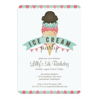 ice cream birthday party invitations & announcements | zazzle, Party invitations