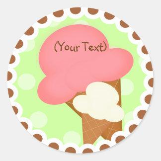 Ice Cream Birthday Party Sticker