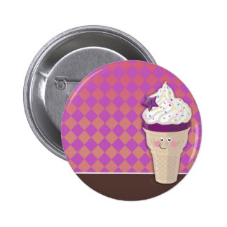 ice cream blueberry buttom pinback button