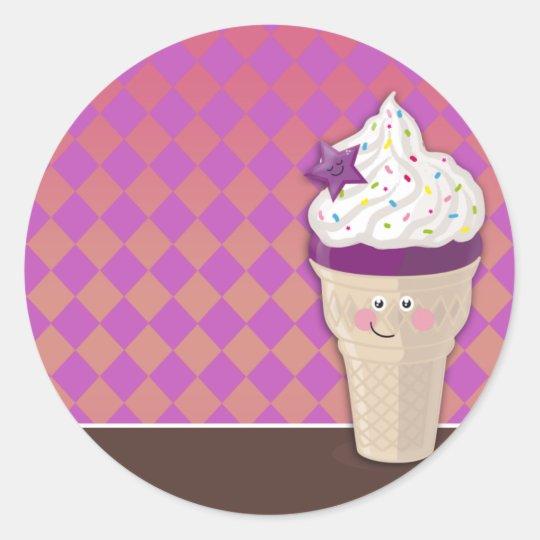 ice cream blueberry sticker