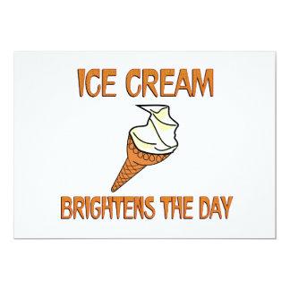 Ice Cream Brightens the Day 5x7 Paper Invitation Card