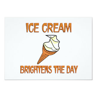 Ice Cream Brightens the Day Card