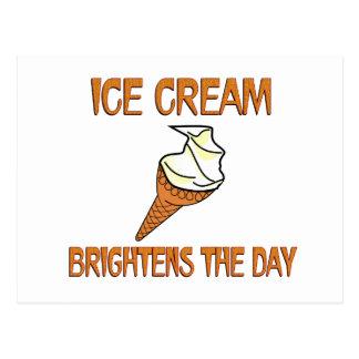 Ice Cream Brightens the Day Postcard