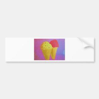 Ice Cream Car Bumper Sticker
