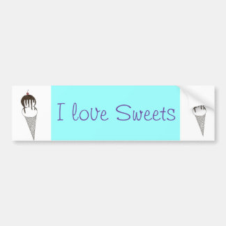 Ice Cream Car Bumper Sticker