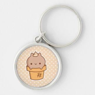 Ice Cream Bunny Keychain