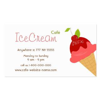Ice Cream Cafe Business Card