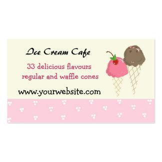 Ice Cream Cafe Design Business Card