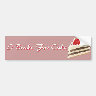Ice Cream Cake Bumper Sticker Car Bumper Sticker