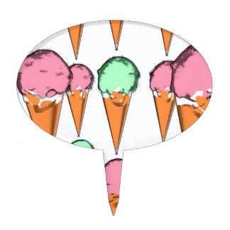 ice cream cake topper