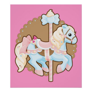 Ice Cream Carousel Poster