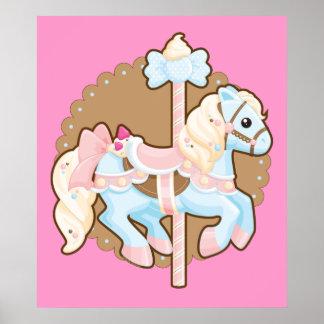 Ice Cream Carousel Poster