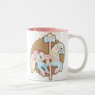 Ice Cream Carousel Two-Tone Coffee Mug