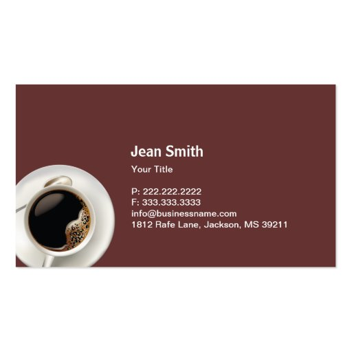Ice Cream & Chocolate Dessert Business Card (back side)